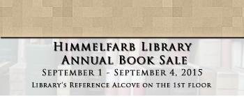Annual Himmelfarb Library Book Sale