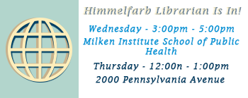 Himmelfarb Librarian Is In!